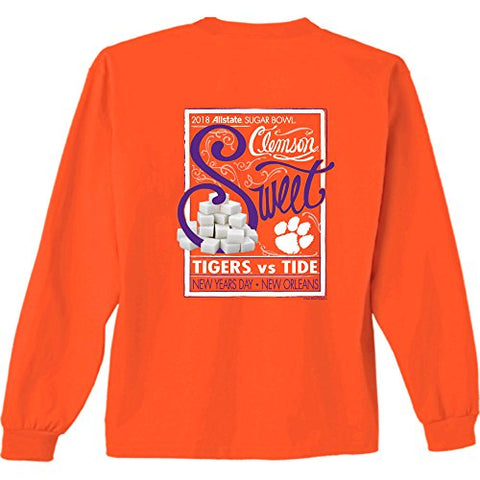 Picture of Clemson Tigers 2018 Sugar Bowl Long Sleeve T Shirts - 2 Designs