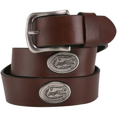 NCAA Florida Gators Brown Leather Concho Belt