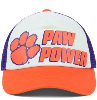 Picture of Clemson Tigers Paw Power Foam Adjustable Trucker Style with Mesh Hat/Cap