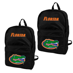 Florida Gators Black Canvas Backpack