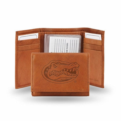 Florida Gators Official NCAA Leather Trifold Wallet
