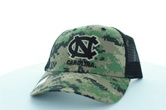 North Carolina Tar Heels Trucker Stlye Hat with Digi-Camo design