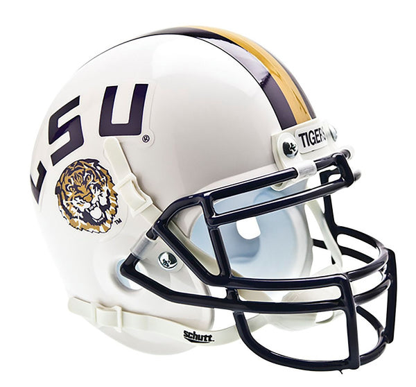 LSU Tigers Mini Helmet - Alt White