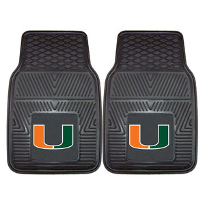 Miami Hurricanes 2-Pc Vinyl Car Mat Set