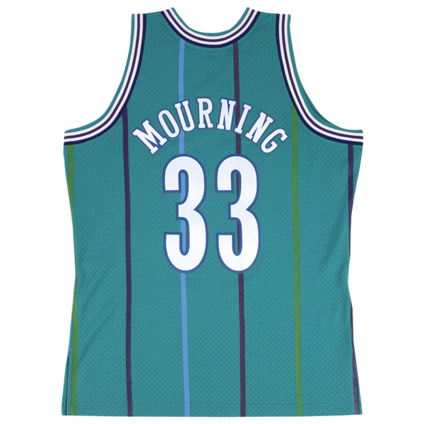 Charlotte Hornets Alonzo Mourning Mitchell and Ness Jersey