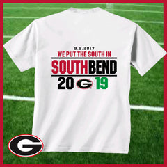 Georgia Bulldogs Victory Over Notre Dame Score T-shirt