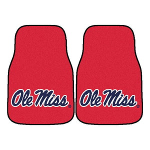 Ole Miss Rebels 2-Pc Carpet Car Mat Set