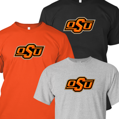 Oklahoma State Cowboys Main Logo T-shirt - Set of 3 Shirts - Orange, Black, Gray