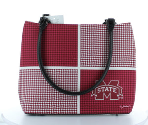 Mississippi State Bulldogs Ladies Houndstooth Purse