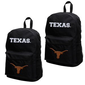 Texas Longhorns Black Canvas Backpack