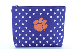 Clemson Tigers Polka Dot Pouch