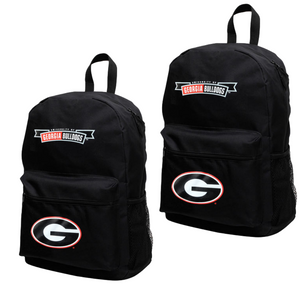 Georgia Bulldogs Black Canvas Backpack