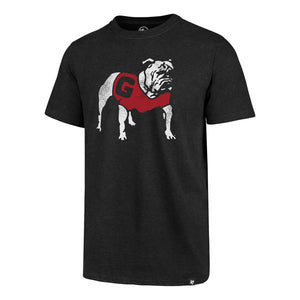Georgia Bulldogs Black Vintage Club Tshirt