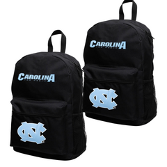 North Carolina Tar Heels Black Canvas Backpack