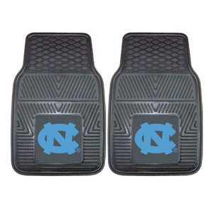 North Carolina Tar Heels 2-Pc Vinyl Car Mat Set