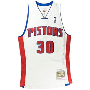 Detroit Pistons Rasheed Wallace Mitchell and Ness Jersey