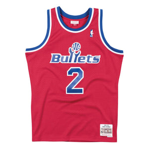 Washington Bullets Chris Webber Mitchell and Ness Jersey
