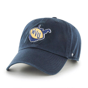 West Virginia Mountaineers Vintage Navy Clean-up Hat