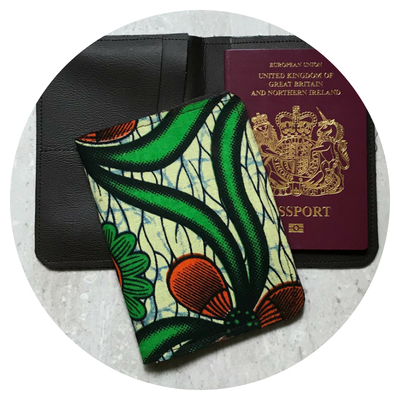 African Print Passport Covers