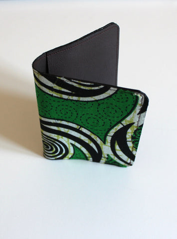 Ankara African Print Passport Cover with Faux Leather | Travel Wallet