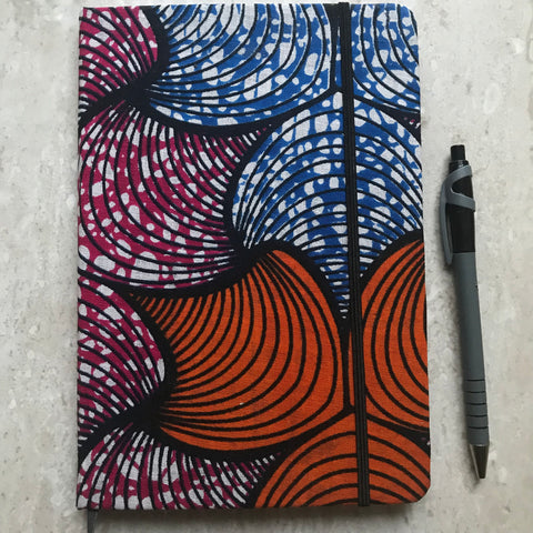 A5 African Print Ankara Notebook | Bullet Journal | Travel Journal