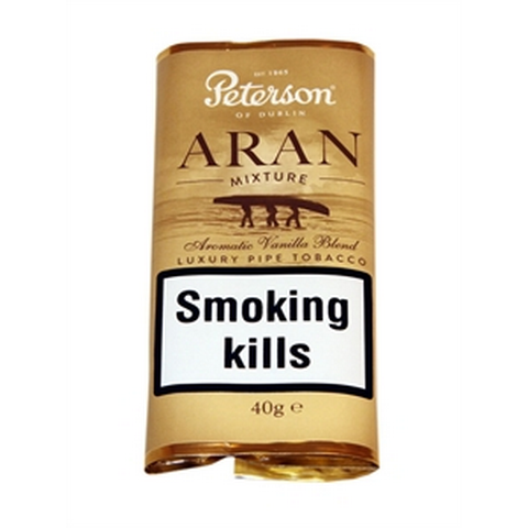 Peterson - Aran Mixture - 40g Pouch - Tobacco UK