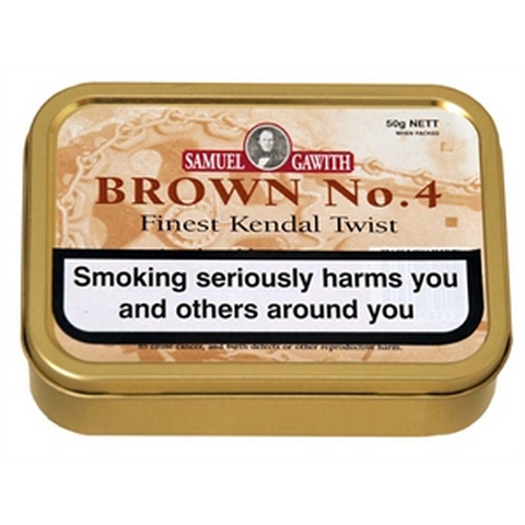 Samuel Gawith - Brown No.4 Twist - 50g Tin - Tobacco UK