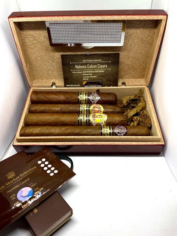 Selection of Limited Edition Cigars 4- In a Travel Size Humidor- EMS Stock
