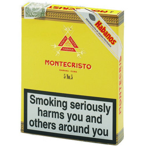 Montecristo - No 5 - Box of 5 - Tobacco UK - 1