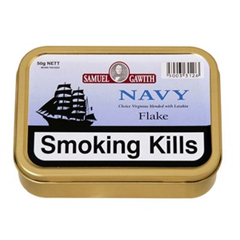 Samuel Gawith - Navy Flake  - 50g Tin - Tobacco UK