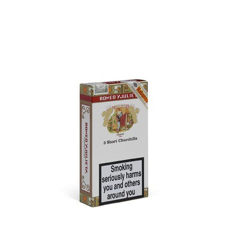 Romeo Y Julieta - Short Churchill - Pack of 3 Tubed - Tobacco UK - 1