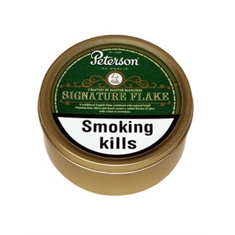 Peterson - Signature Flake - 100g Tin - Tobacco UK