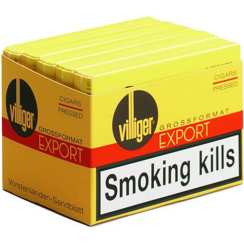 Villiger - Export Pressed - Box of 5 - Tobacco UK