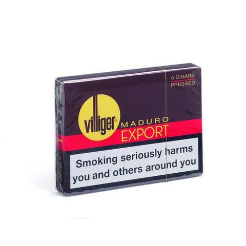 Villiger - Export Maduro (Pressed) - Box of 5 - Tobacco UK