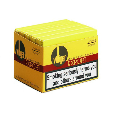 Villiger - Export Round - Box of 5 - Tobacco UK