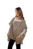 Nursing Cover  - 100% Cotton Muslin Olive Square