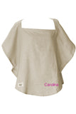 Personalized Nursing Cover  - 100% Cotton Muslin Beige Oval