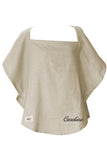 Personalized Organic Nursing Cover Beige Oval