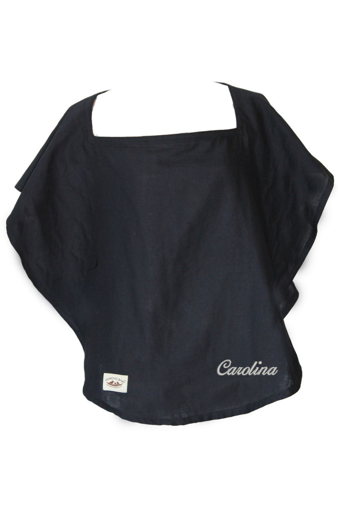 Personalized of Nursing Cover  - 100% Cotton Muslin Black Oval