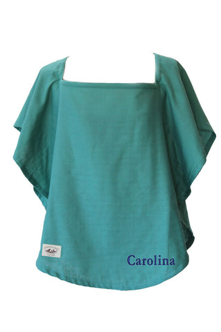 Personalized Organic Nursing Cover Emerald Oval