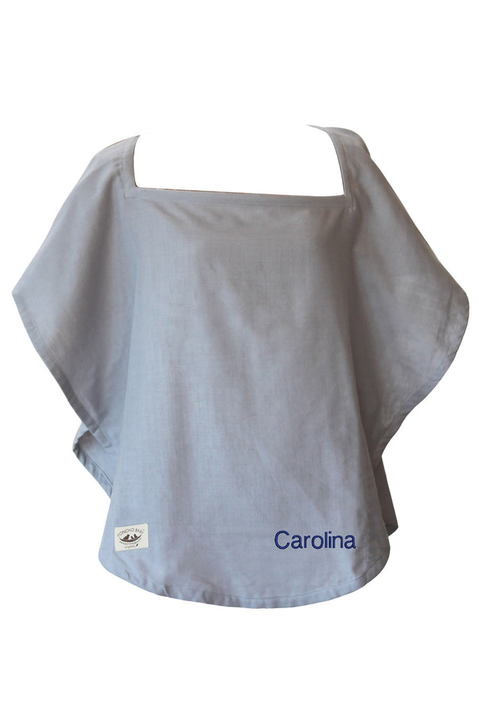 Personalized Organic Nursing Cover Gray Oval