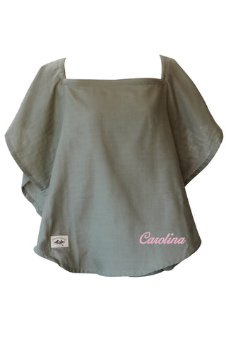 Personalized Nursing Cover  - 100% Cotton Muslin Olive Oval