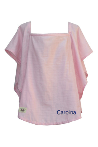 Personalized Organic Nursing Cover Pink Oval