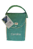 Personalized Diaper Bag - Organic Pack-N-Run™ Emerald/Beige