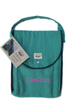 Personalized Diaper Bag - Organic Pack-N-Run™ Emerald/Navy
