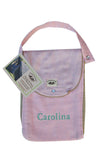 Personalized Diaper Bag - Organic Pack-N-Run™ Pink/Beige