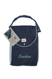 Personalized Diaper Bag - Organic Pack-N-Run™ Navy/Gray