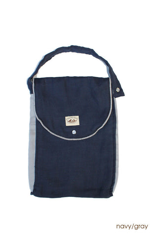 Diaper Bag - Organic Pack-N-Run™ Navy/Gray