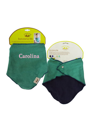 Personalized Bandana Bib - Reversible Emerald/Black