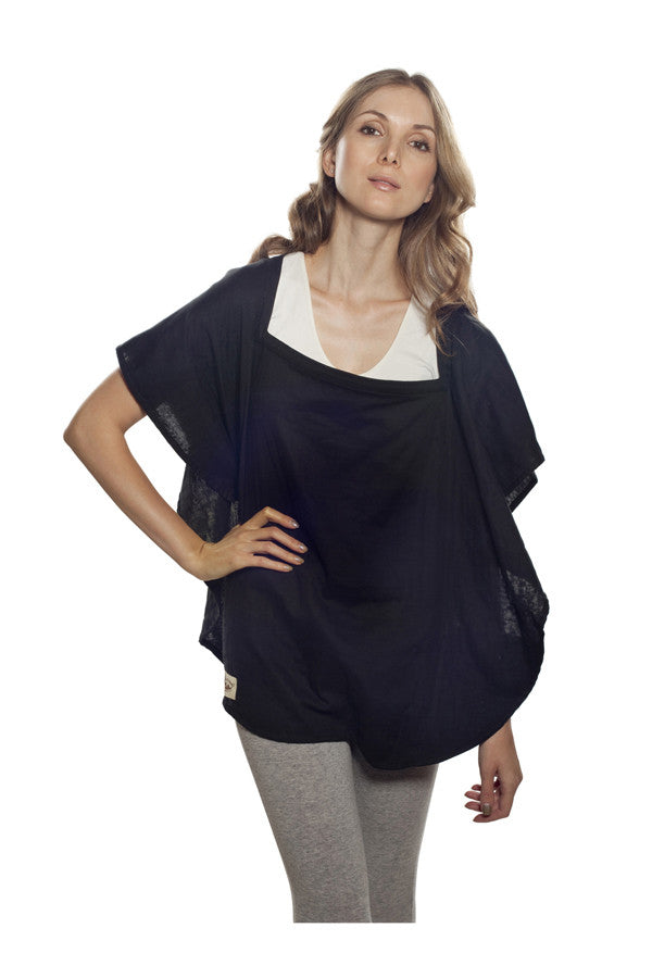 Nursing Cover  - 100% Cotton Muslin Navy Oval